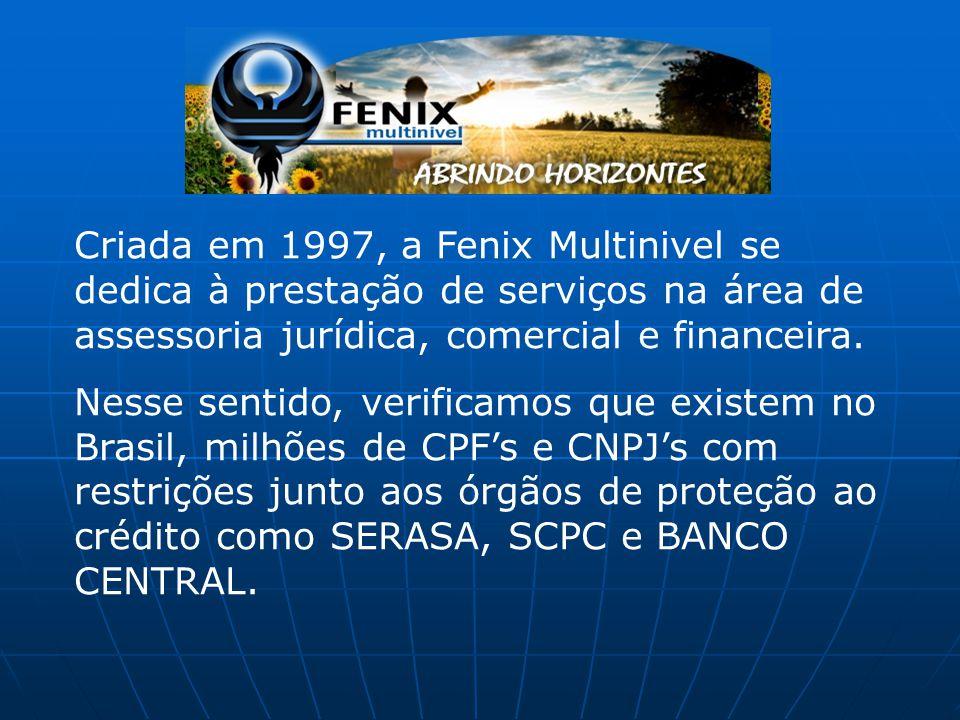 Criada em 1997, a Fenix Multinivel se dedica à prestação de serviços na área de assessoria jurídica, comercial e financeira. Nesse sentido, verificamo