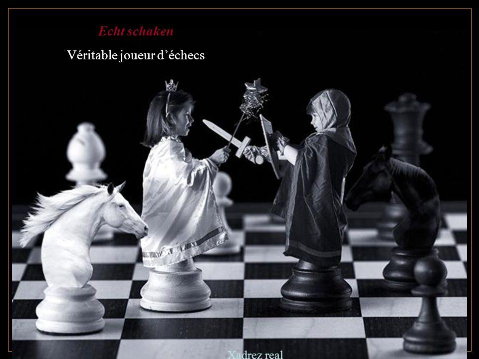 Echt schaken Véritable joueur d'échecs Xadrez real