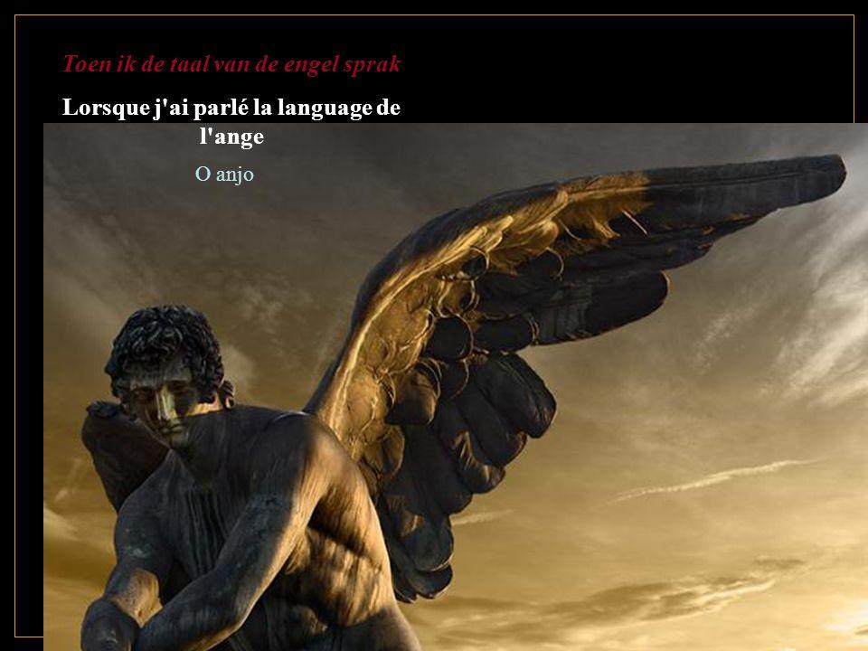Toen ik de taal van de engel sprak Lorsque j ai parlé la language de l ange O anjo