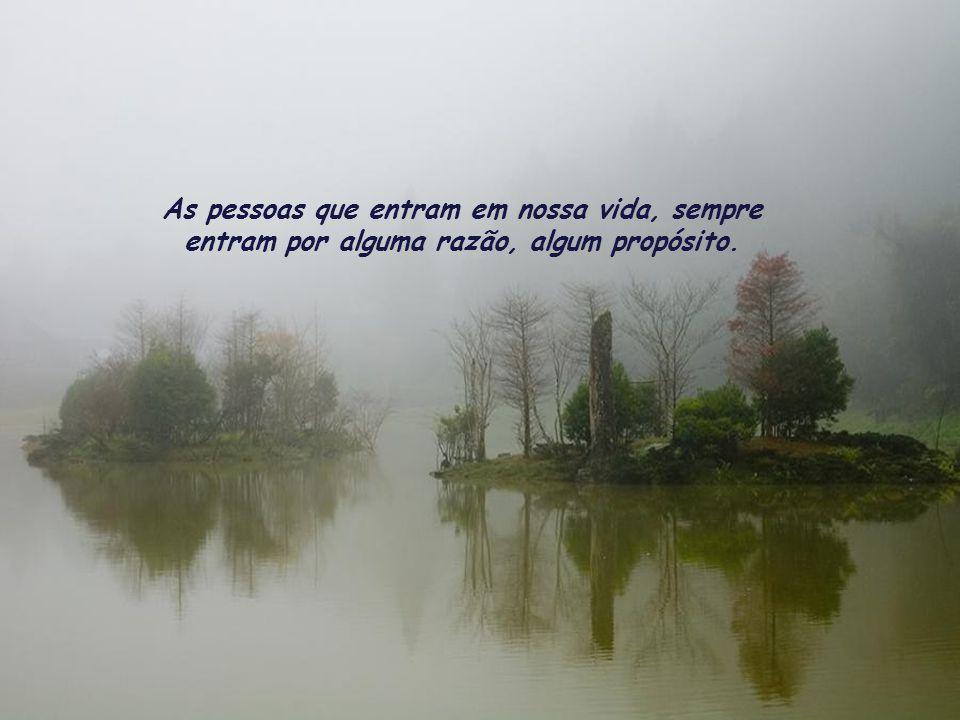 As pessoas que entram em nossa vida, sempre entram por alguma razão, algum propósito.