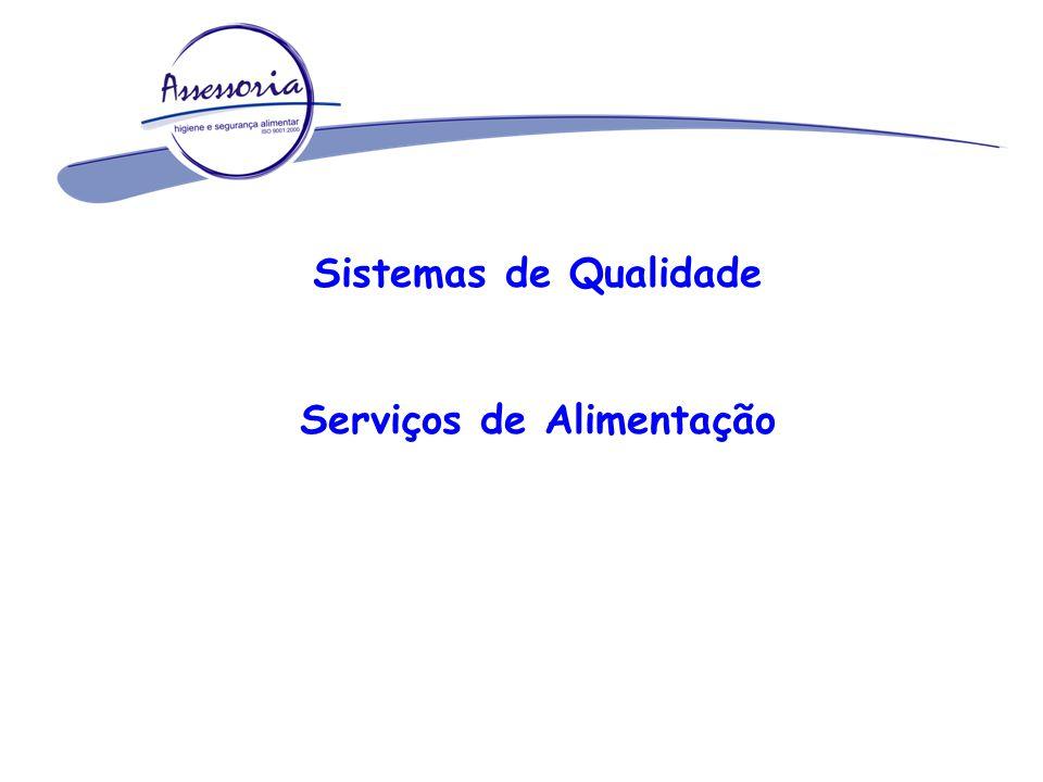 Sistemas de Qualidade Serviços de Alimentação