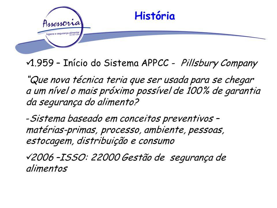 """História 1.959 – Início do Sistema APPCC - Pillsbury Company """"Que nova técnica teria que ser usada para se chegar a um nível o mais próximo possível d"""