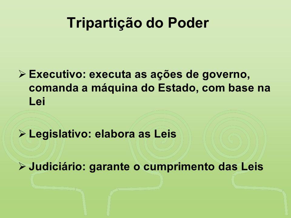 """""""SAÚDE"""" É DESENVOLVIMENTO NO VALE DO RIBEIRA Tripartição do Poder  Executivo: executa as ações de governo, comanda a máquina do Estado, com base na L"""