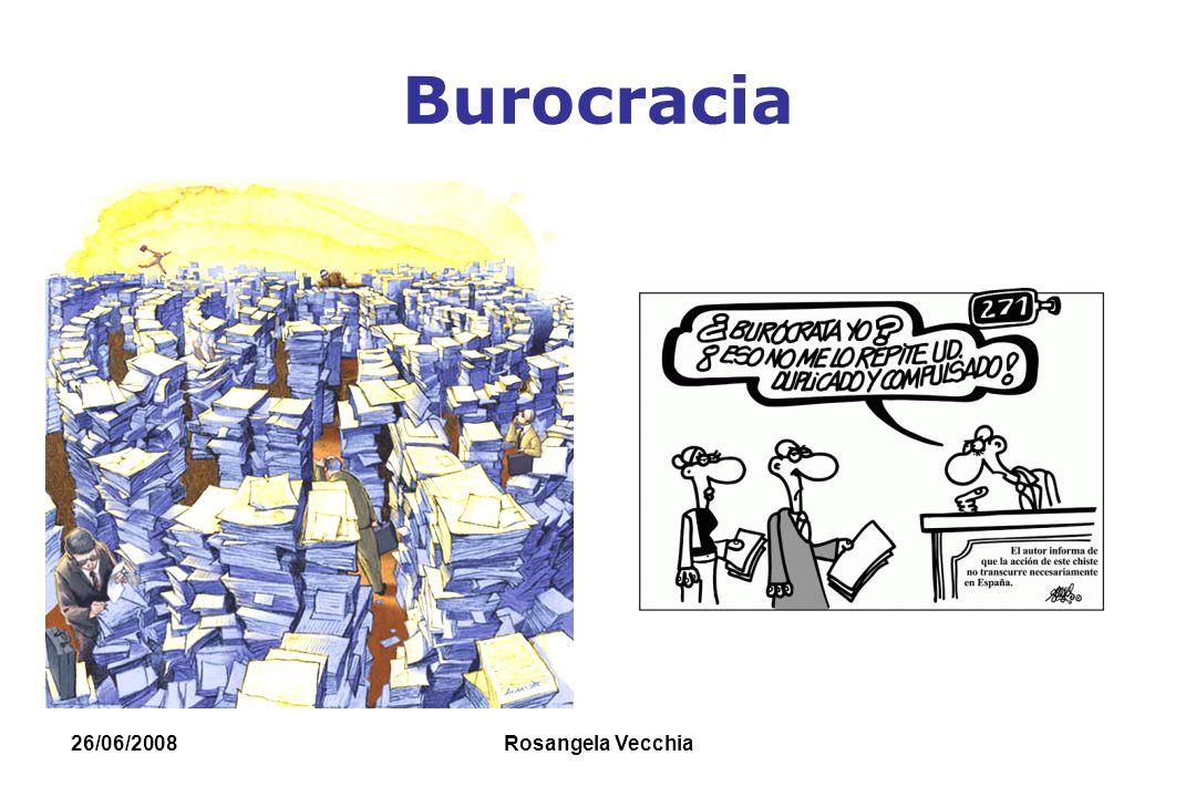 26/06/2008 Rosangela Vecchia BUROCRACIA