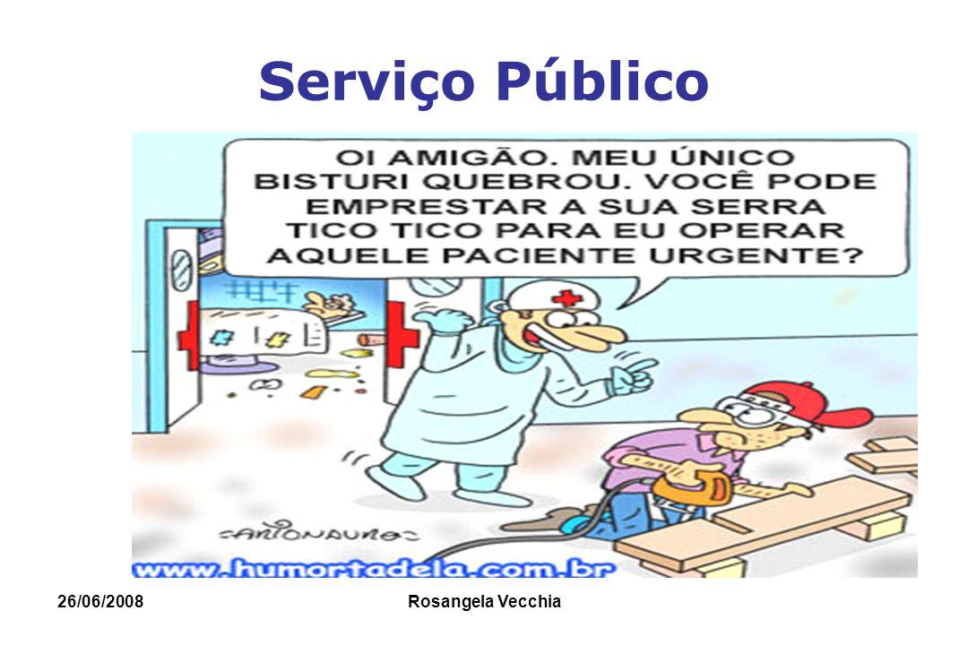 26/06/2008 Rosangela Vecchia Serviço Público Morosidade
