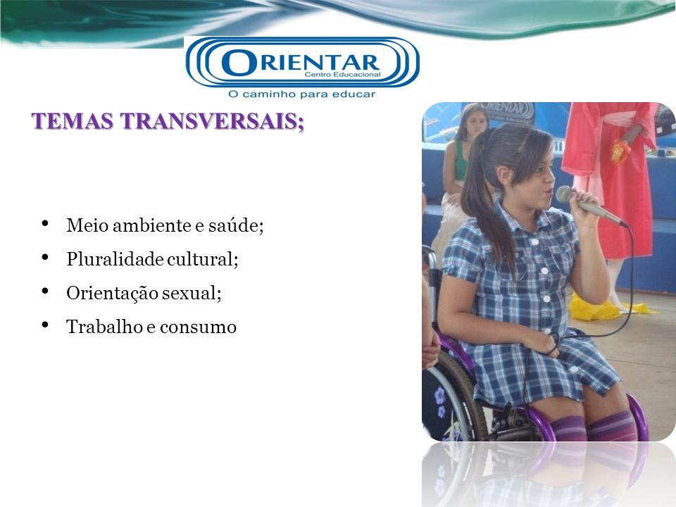 TEMAS TRANSVERSAIS; Meio ambiente e saúde; Pluralidade cultural; Orientação sexual; Trabalho e consumo