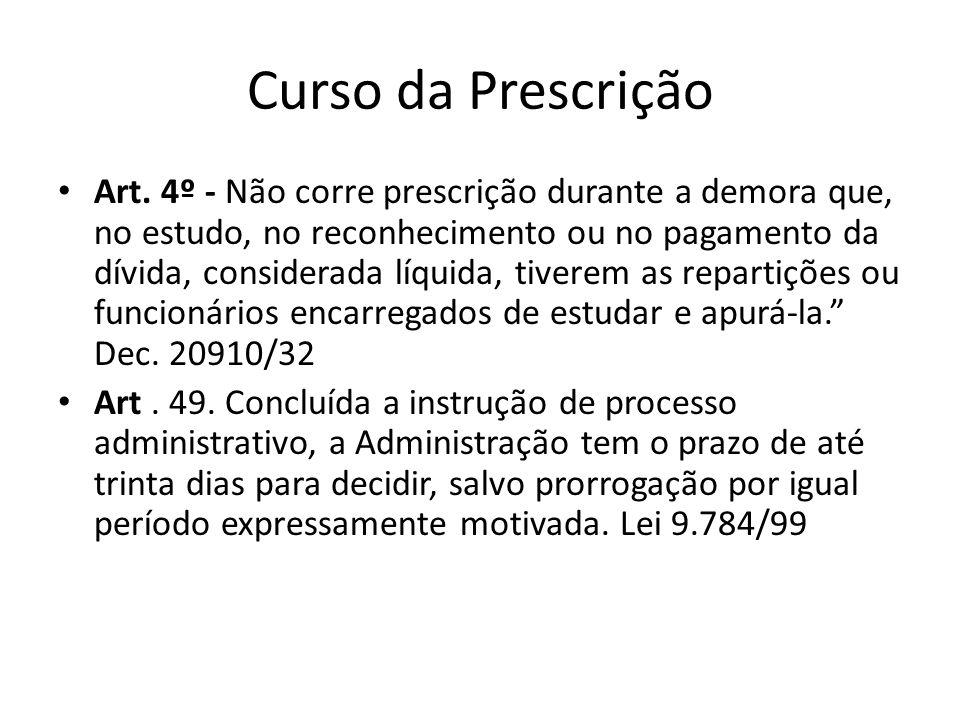 Prescrição administrativa Art.54.