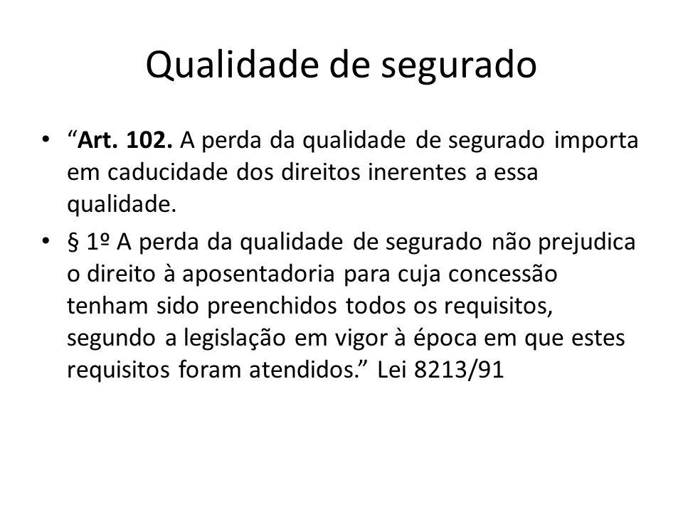 Decadência x Direito Adquirido Art.103.
