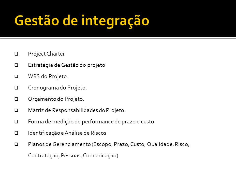 Montar o Plano do Projeto  Project Charter  Estratégia de Gestão do projeto.  WBS do Projeto.  Cronograma do Projeto.  Orçamento do Projeto.  Ma
