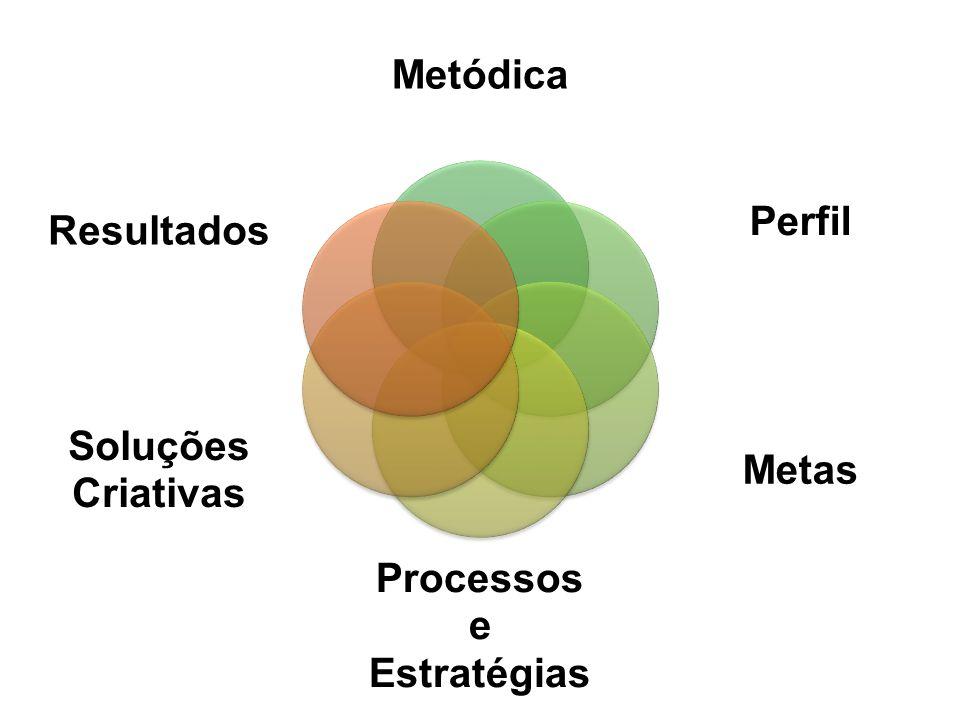 Metódica Perfil Metas Processos e Estratégias Soluções Criativas Resultados
