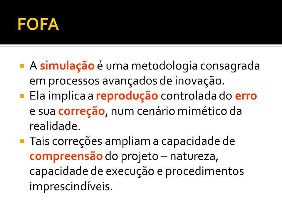  A simulação é uma metodologia consagrada em processos avançados de inovação.  Ela implica a reprodução controlada do erro e sua correção, num cenár