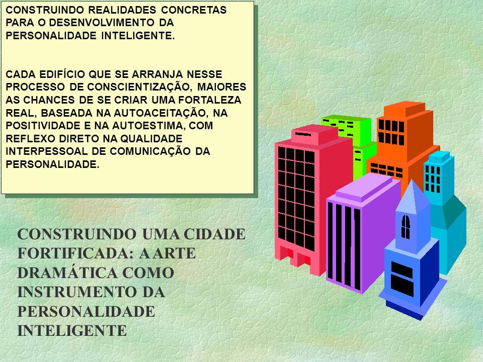 CONSTRUINDO REALIDADES CONCRETAS PARA O DESENVOLVIMENTO DA PERSONALIDADE INTELIGENTE.