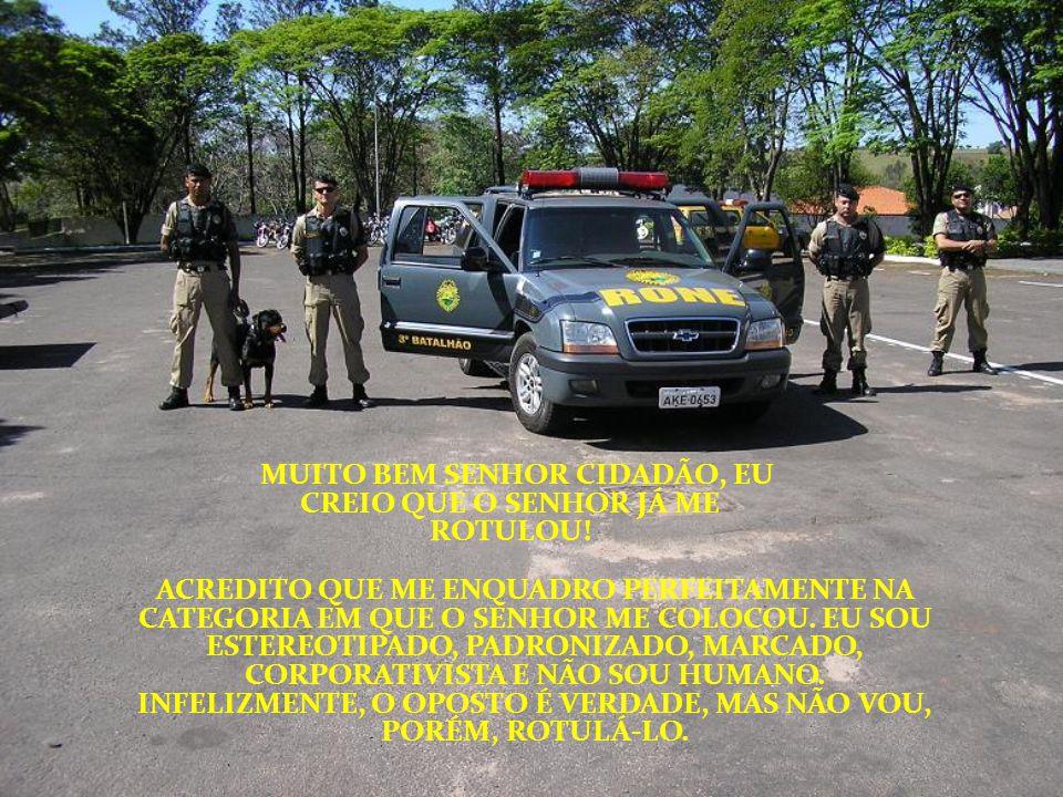 O SENHOR PROTESTA QUE A POLÍCIA NADA FAZ PARA COMBATER O CRIME, MAS FICA FURIOSO SE É ENVOLVIDO NUM PROCESSO.