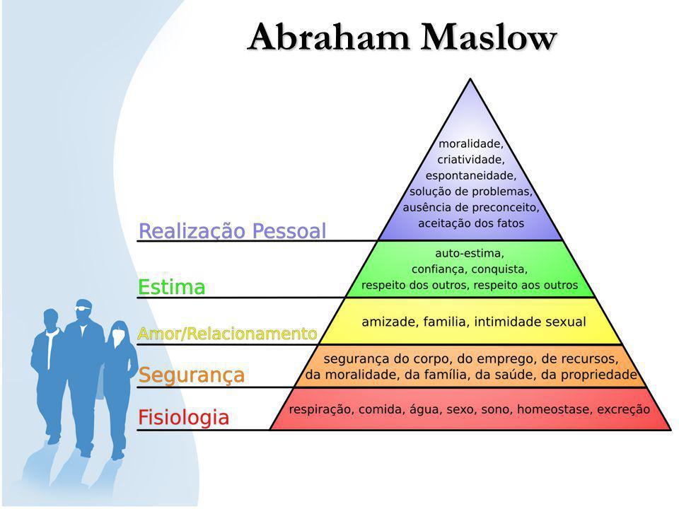 Abraham Maslow (1908-1970) foi um psicólogo americano, conhecido pela proposta hierarquia de necessidades de Maslow.