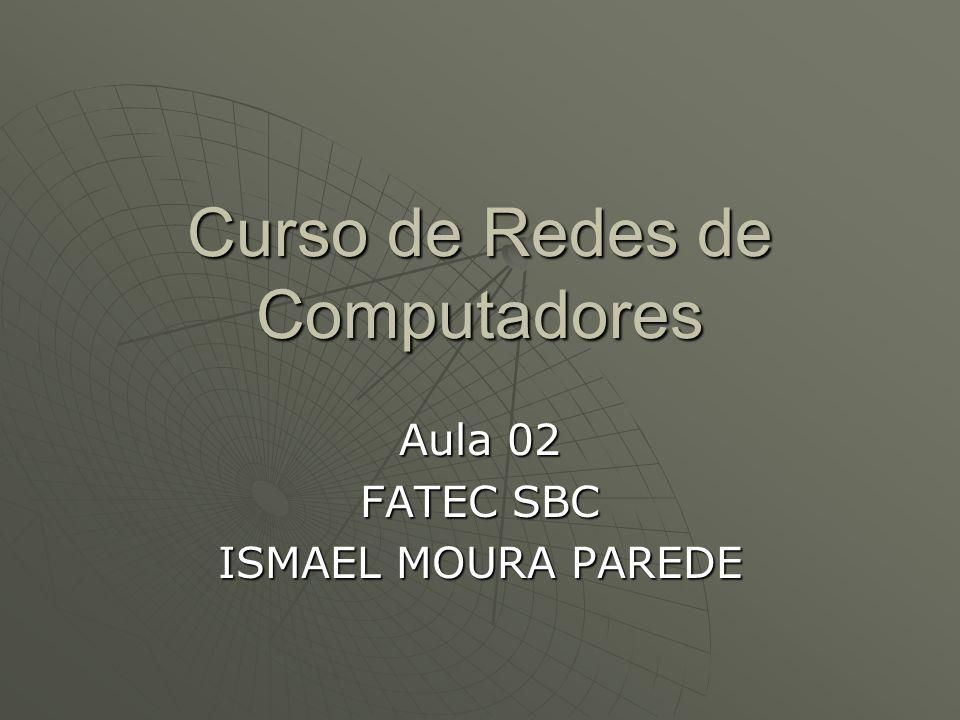 Curso de Redes de Computadores Aula 02 FATEC SBC ISMAEL MOURA PAREDE