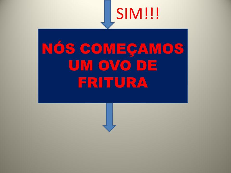 NÓS COMEÇAMOS UM OVO DE FRITURA SIM!!!