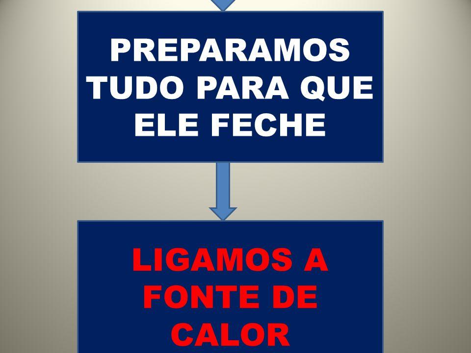 LIGAMOS A FONTE DE CALOR