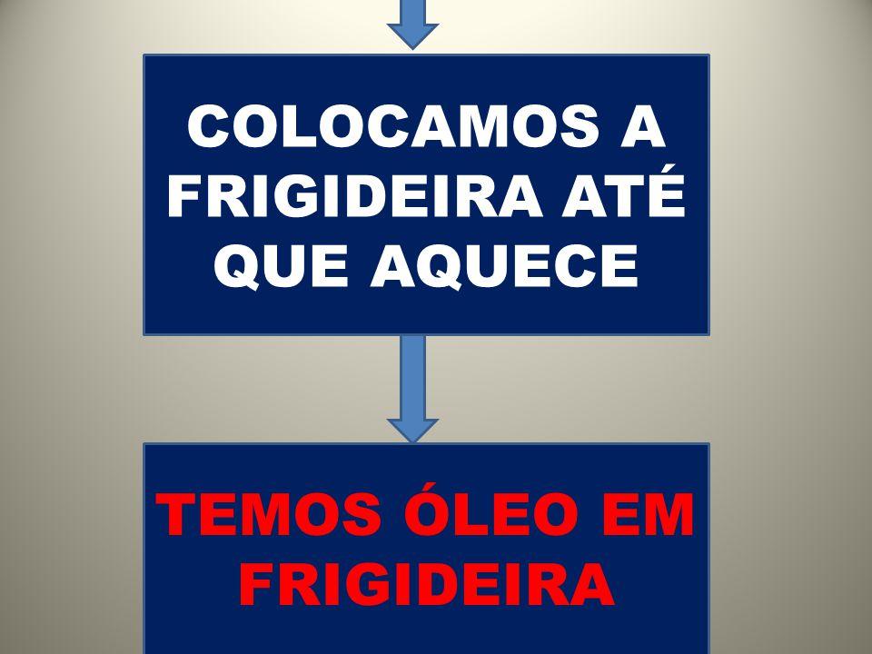 TEMOS ÓLEO EM FRIGIDEIRA