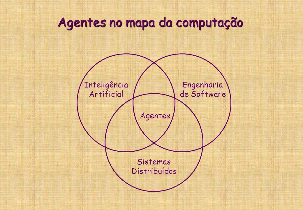 O que é um agente? Raciocínio Agente Ambiente Sensores Atuadores Objetivos Interpretação das percepções: I = f(P) Escolha das ações: A = g(I,O) A P 1.