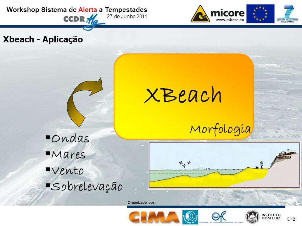 Workshop Sistema de Alerta a Tempestades 27 de Junho 2011 www.micore.eu Organizado por: 10/12 Xbeach – Exemplos