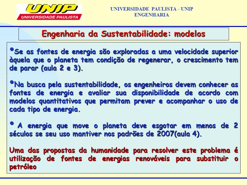 Se as fontes de energia são exploradas a uma velocidade superior àquela que o planeta tem condição de regenerar, o crescimento tem de parar (aula 2 e 3).