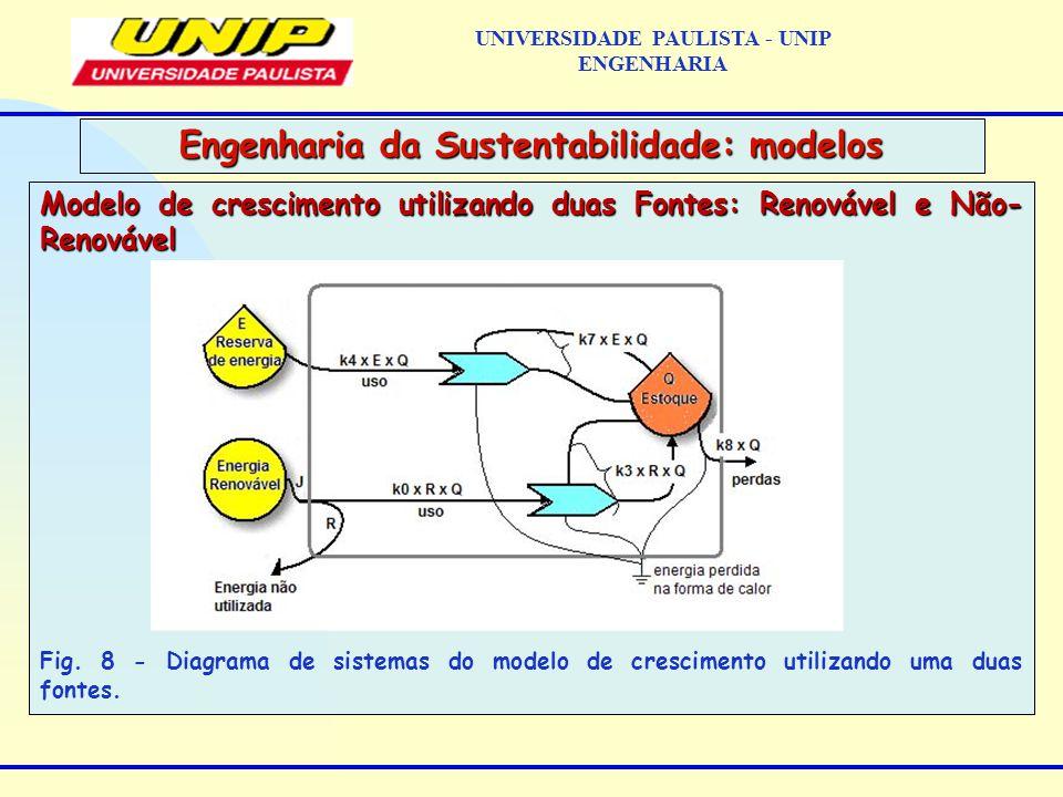 Modelo de crescimento utilizando duas Fontes: Renovável e Não- Renovável Fig.