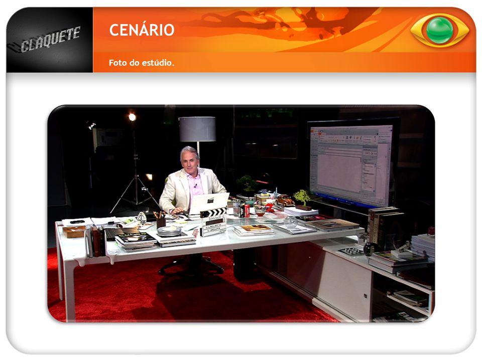 CENÁRIO Foto do estúdio.