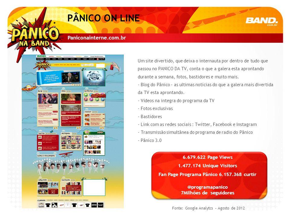 Começa na TV, começa na internet.Assim é o PANICO 3.0.