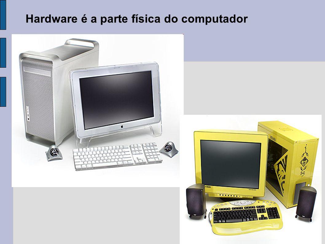 Hardware é a parte física do computador