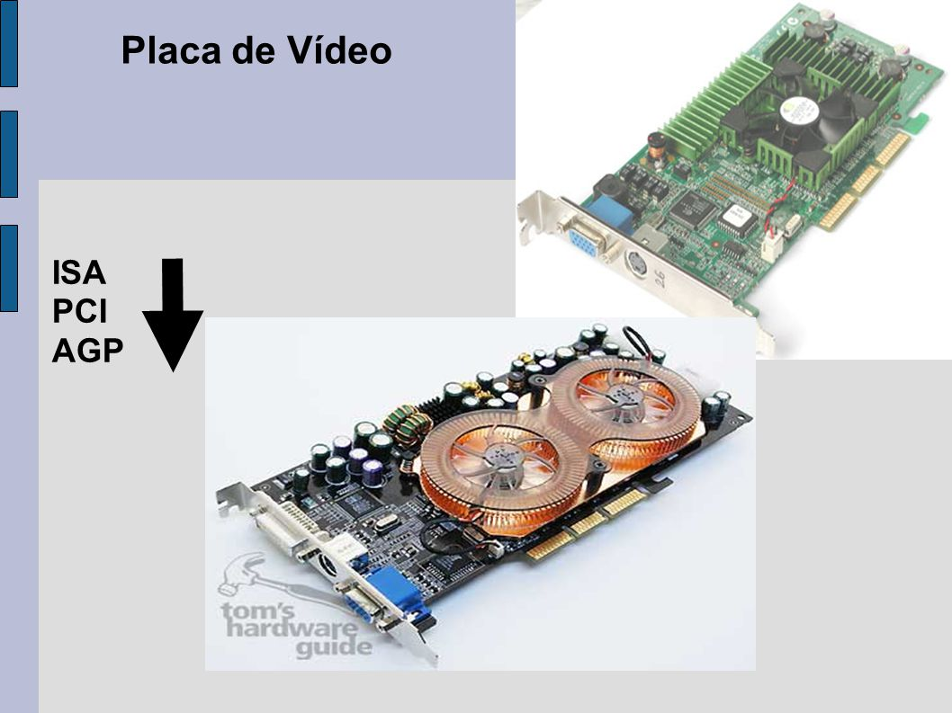 Placa de Vídeo ISA PCI AGP