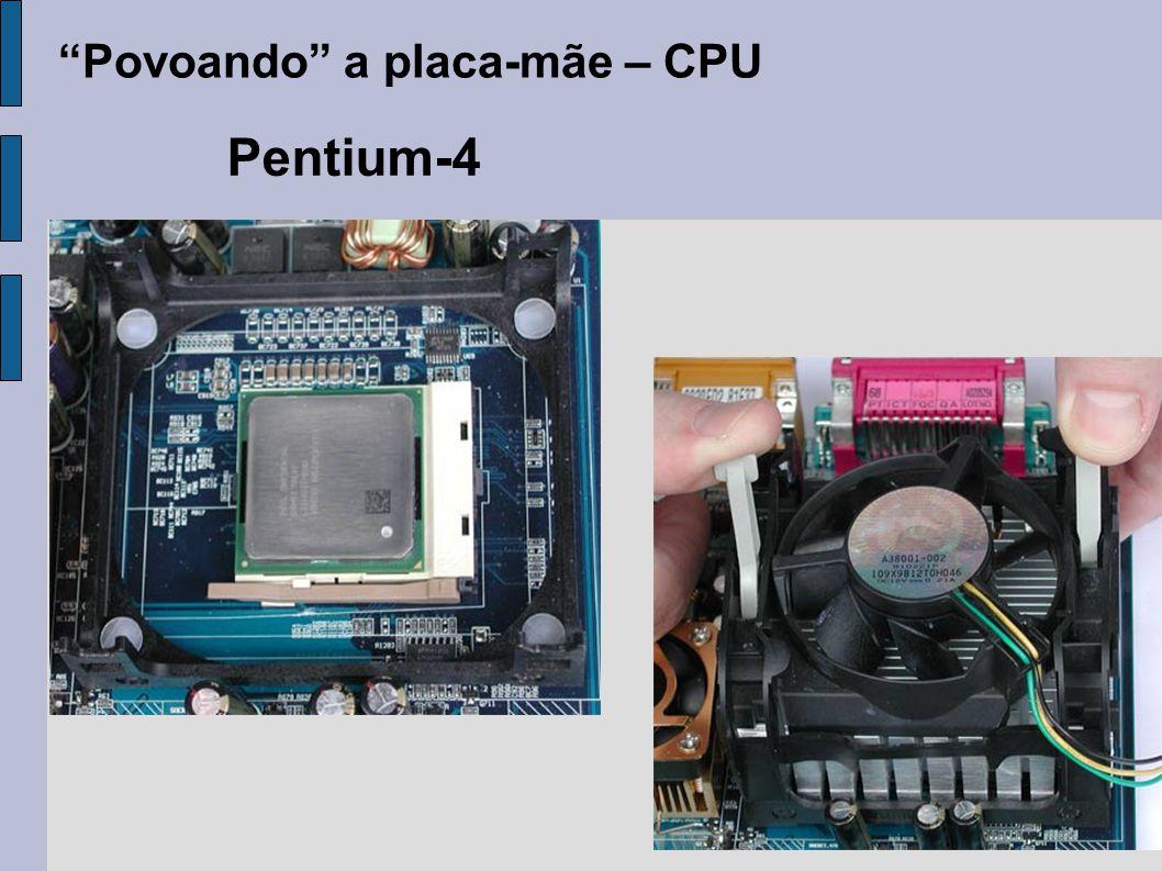 """""""Povoando"""" a placa-mãe – CPU Pentium-4"""