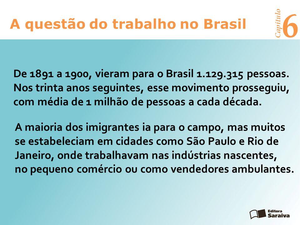 6 A questão do trabalho no Brasil Capítulo Exercícios Leia o texto abaixo, sobre o desemprego no Brasil:1.