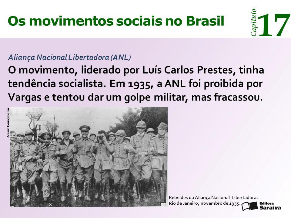 Os movimentos sociais no Brasil 17 Capítulo Aliança Nacional Libertadora (ANL) Rebeldes da Aliança Nacional Libertadora. Rio de Janeiro, novembro de 1