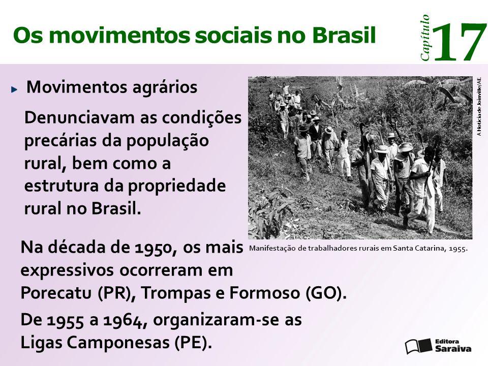 Os movimentos sociais no Brasil 17 Capítulo Movimentos agrários Manifestação de trabalhadores rurais em Santa Catarina, 1955. A Notícia de Joinville/A