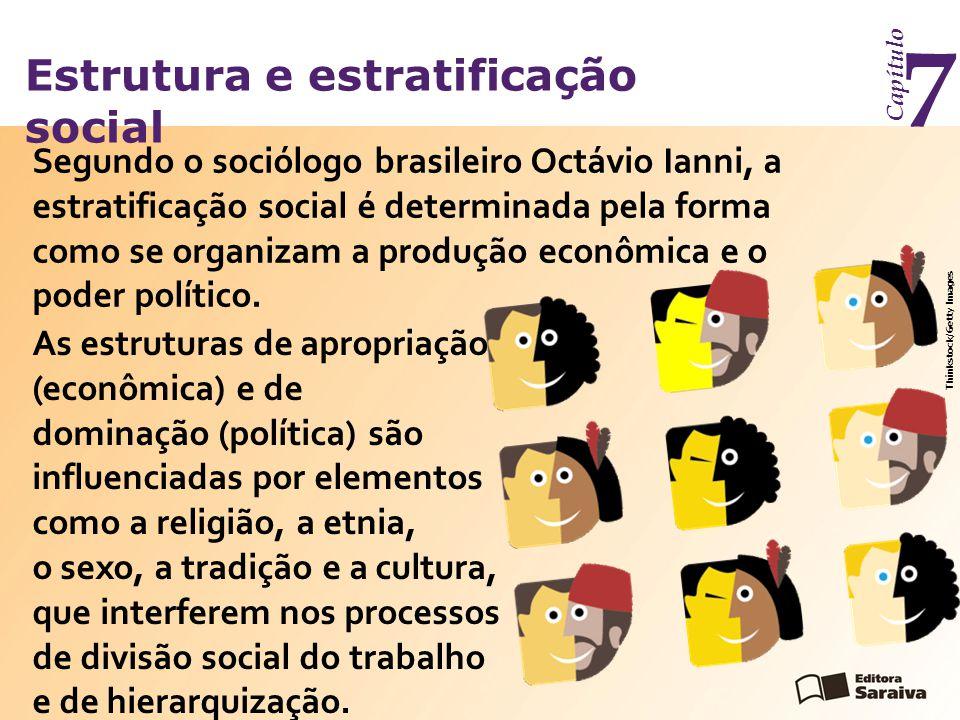 Estrutura e estratificação social Capítulo 7 A estratificação e as desigualdades sociais são produzidas historicamente.