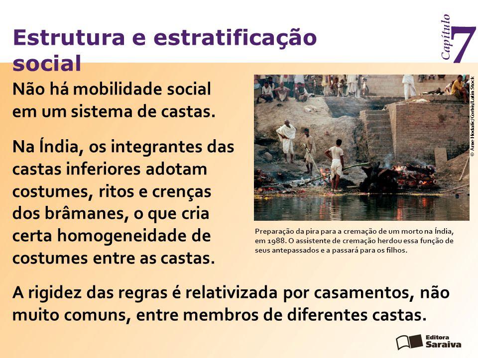 Estrutura e estratificação social Capítulo 7 Não há mobilidade social em um sistema de castas.