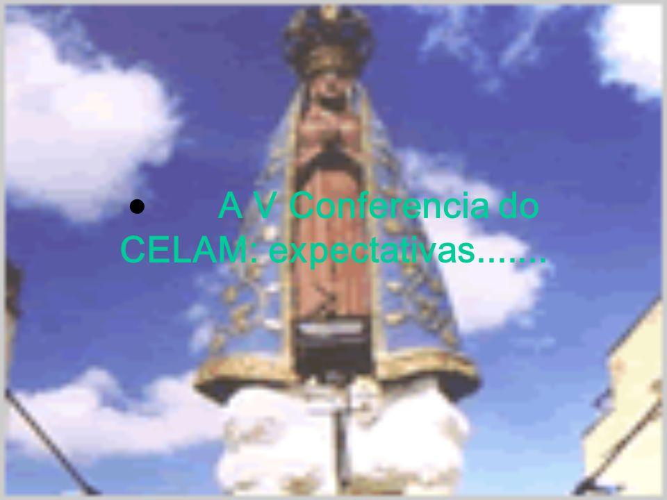  A V Conferencia do CELAM: expectativas.......