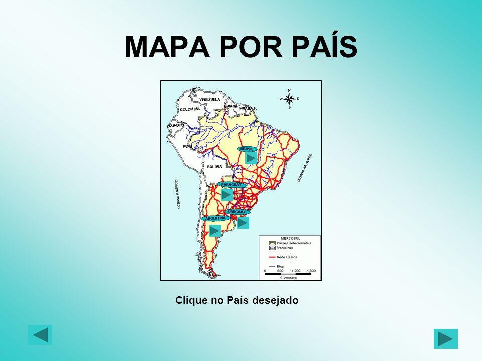 O presente trabalho tem como objetivo apresentar a malha rodoviária básica que faz parte do Mercosul, bem como os seus respectivos trechos, incluindo-