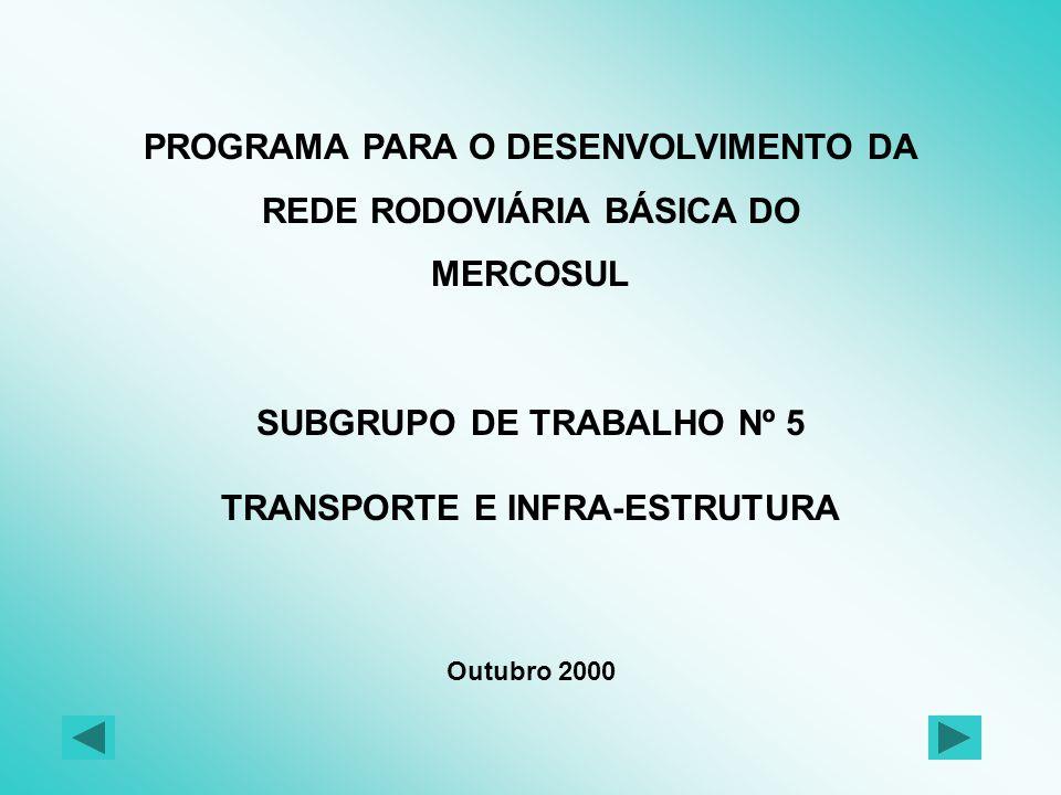 BRASILARGENTINA PARAGUAY URUGUAY CADASTRO DA MALHA RODOVIÁRIA