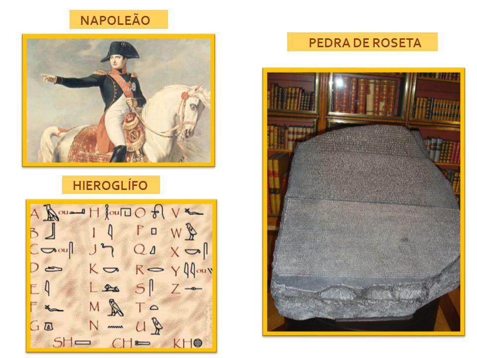 HIEROGLÍFO PEDRA DE ROSETA NAPOLEÃO