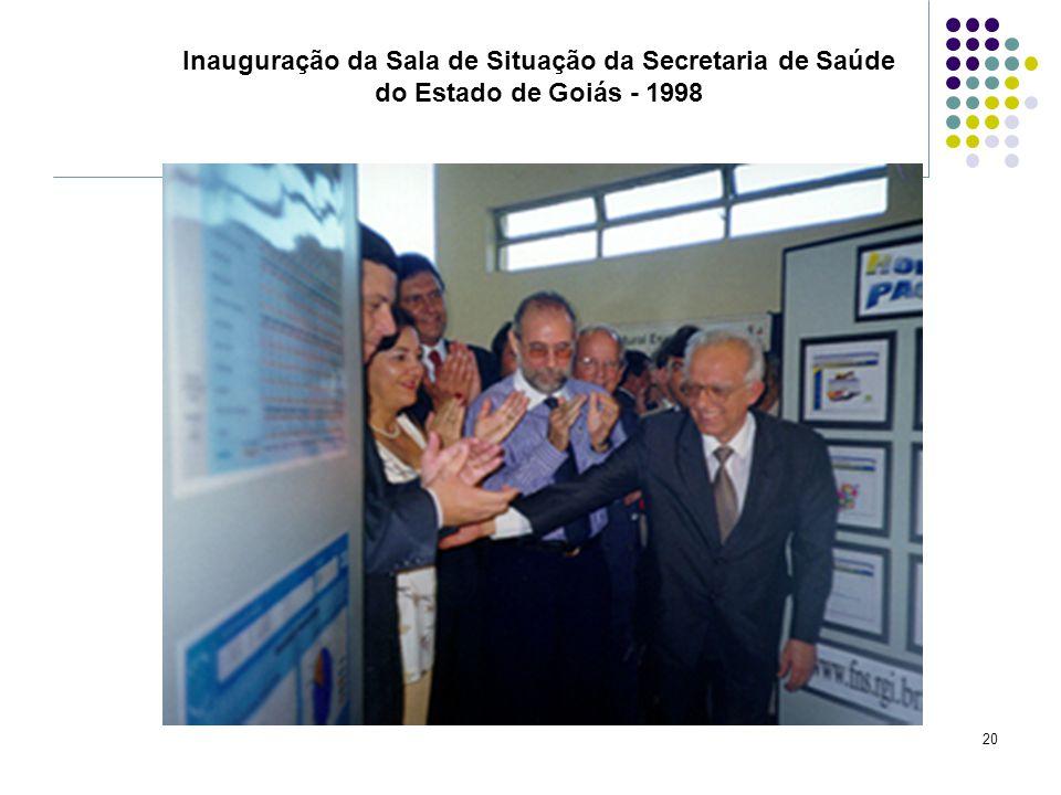 20 Inauguração da Sala de Situação da Secretaria de Saúde do Estado de Goiás - 1998