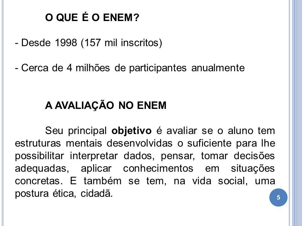 5 O QUE É O ENEM.