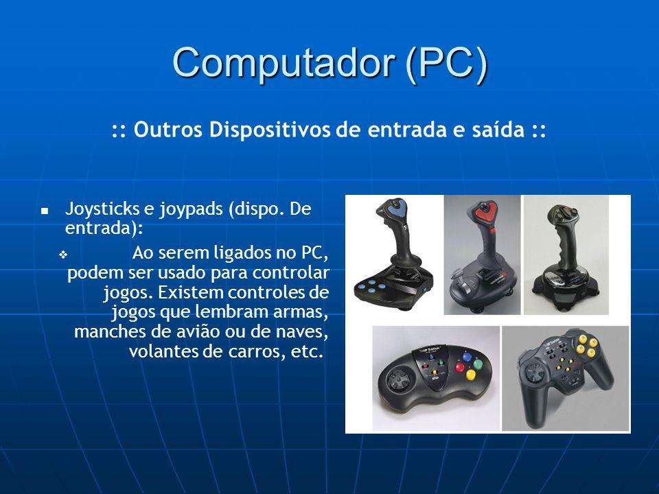 Computador (PC) Joysticks e joypads (dispo.