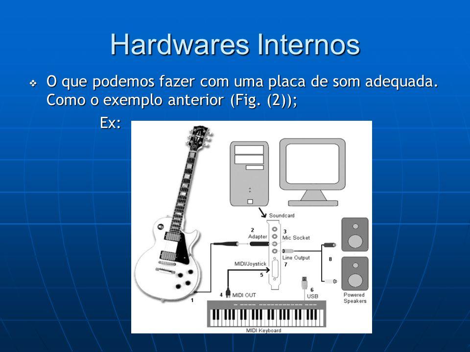 Hardwares Internos  O que podemos fazer com uma placa de som adequada.
