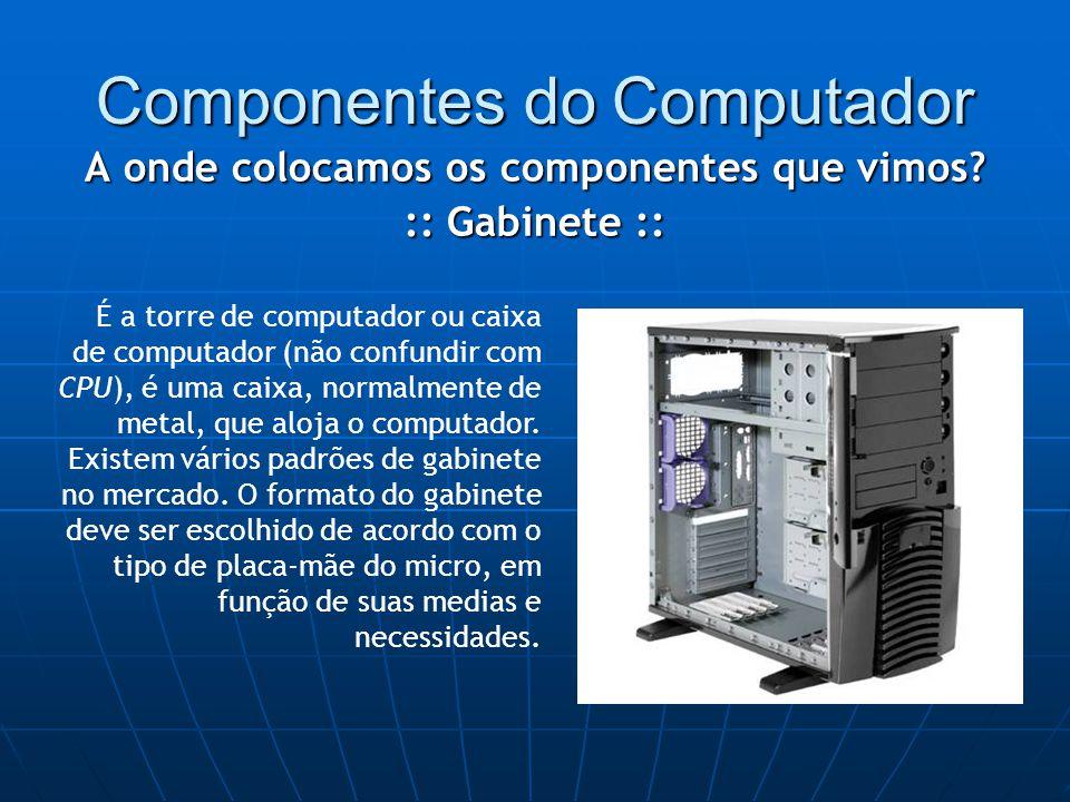 Componentes do Computador A onde colocamos os componentes que vimos.