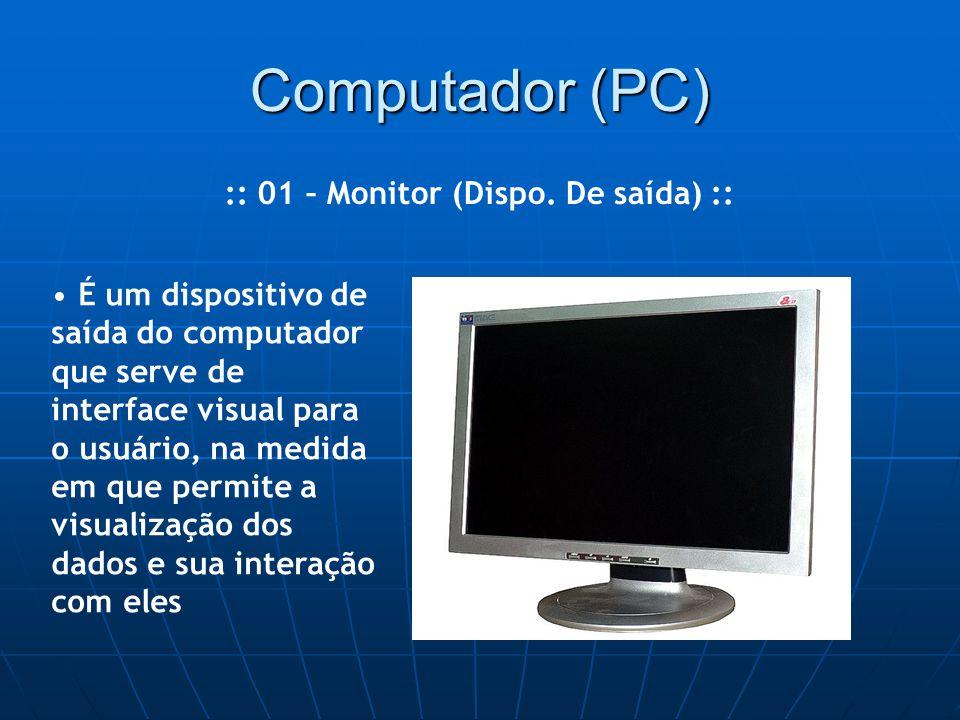 Computador (PC) :: 01 – Monitor (Dispo.