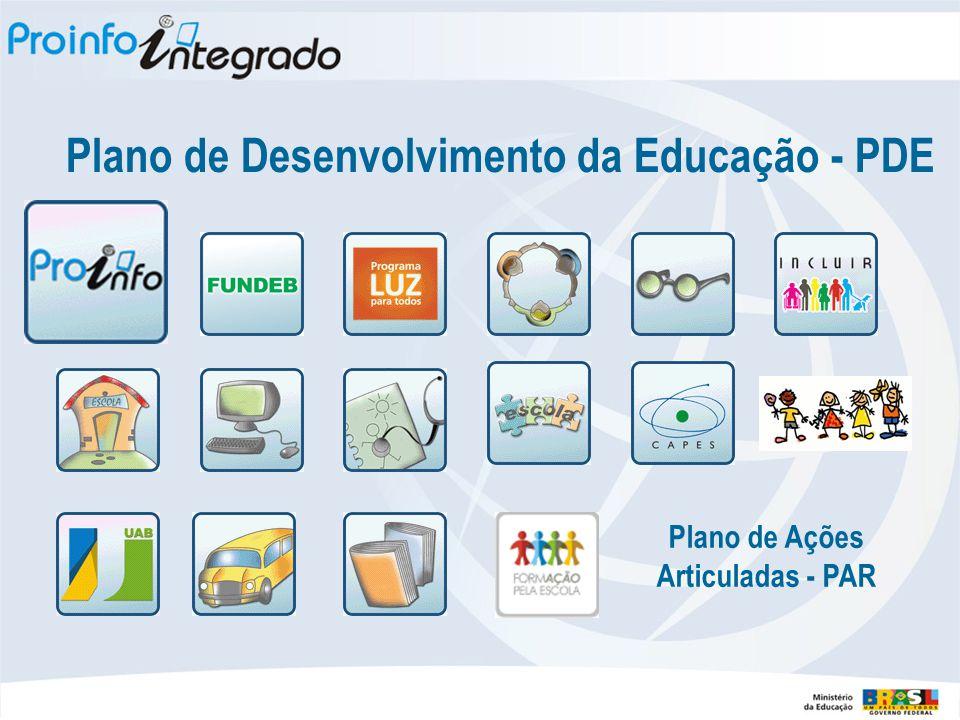 Plano de Desenvolvimento da Educação - PDE Plano de Ações Articuladas - PAR