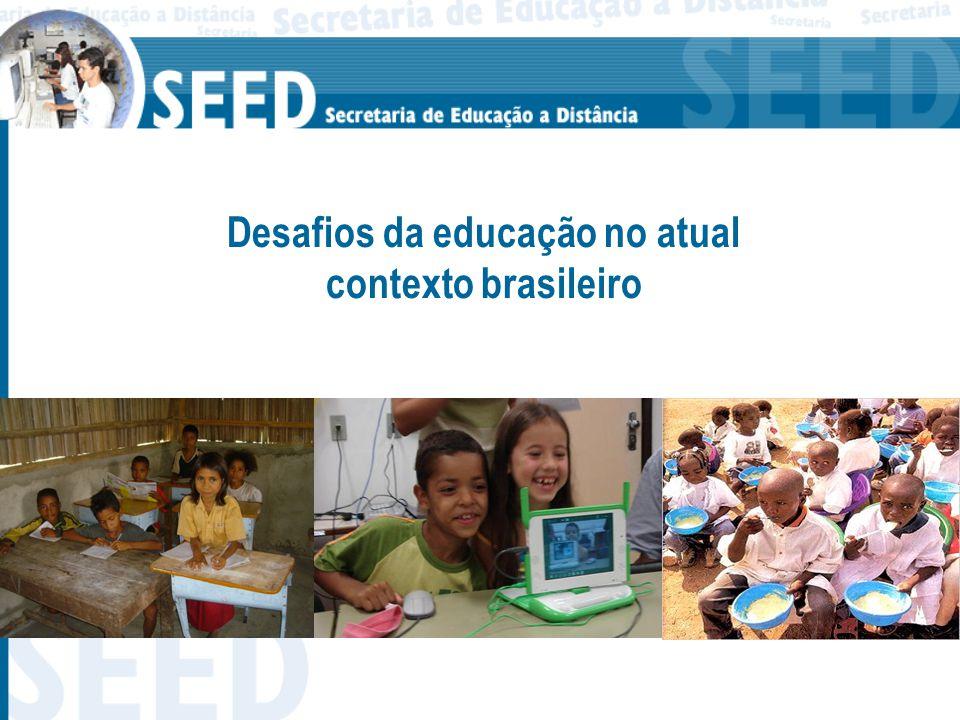 [...] 97% das crianças e jovens entre 7 e 14 anos estão na escola......
