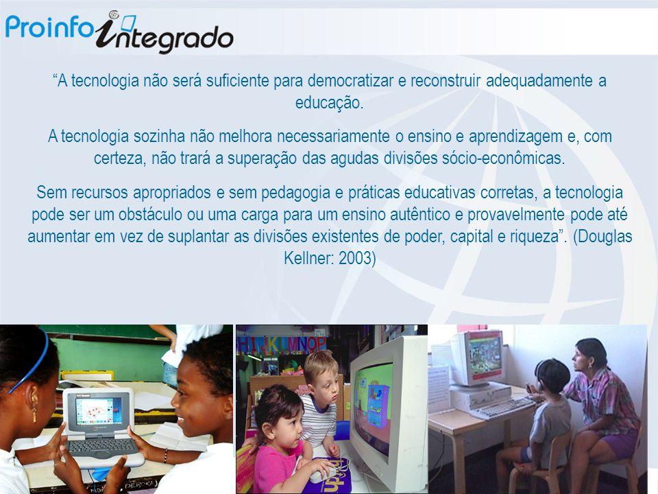 """""""A tecnologia não será suficiente para democratizar e reconstruir adequadamente a educação. A tecnologia sozinha não melhora necessariamente o ensino"""