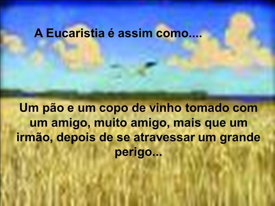 A Eucaristia é assim como.... Uma refeição partilhada com nossos pais após uma longa separação....